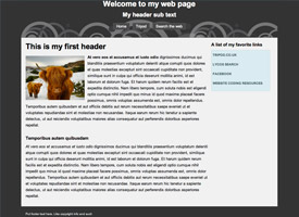 HTML Website Templates For Download Tripodcom - Basic html template